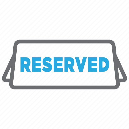 dinner, food, meal, plate, reserved, restaurant, sign icon