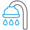 bath, bathroom, drop, faucet, shower, tub, water icon