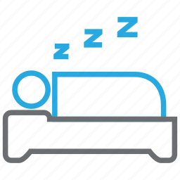 bed, bedroom, furniture, hotel, rest, sleep, snore icon
