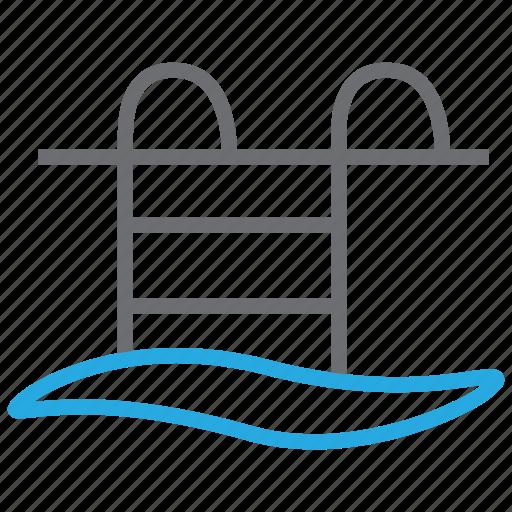 pool, sports, swim, swimming, water, wave, waves icon