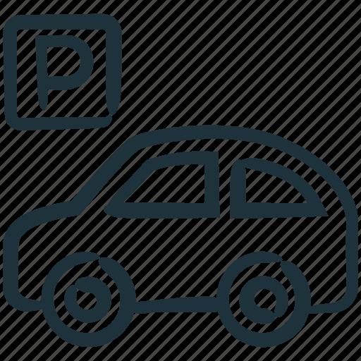 car, park, parking, parking lot, vehicle icon