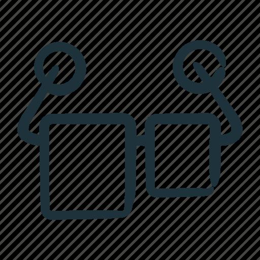 hanger, rack, towel icon