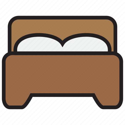 bed, bedroom, couple, furniture, pillow icon