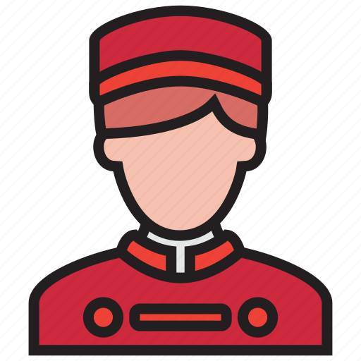 bellboy, hotel, people, waiter icon