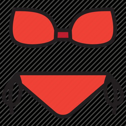 bikini, bra, swimsuit, swimwear, underwear icon