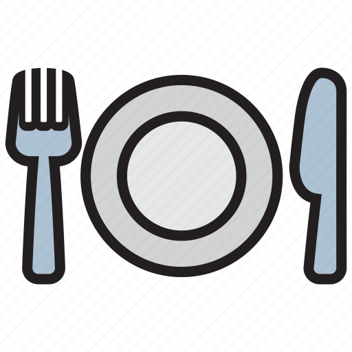 cutlery, dish, fork, kitchen, knife, spoon icon