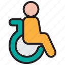 disability, disable, disabled, handicap, patient, wheelchair icon