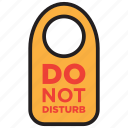 disturb, do not disturb, door sign, room icon