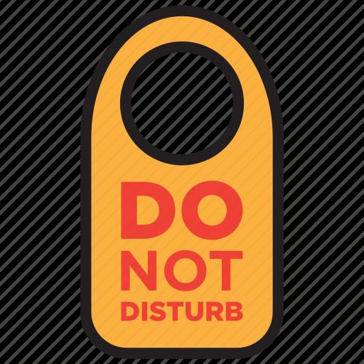 disturb, do not disturb, door sign, room icon