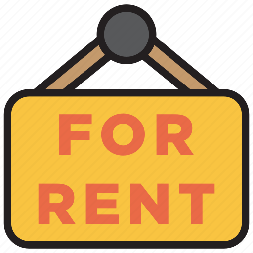 accommodation, for rent, home, house, rent icon