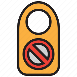 door sign, forbidden, room, sign icon