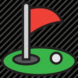 game, golf, golfer, grass, sports icon