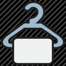 bath, clothes, hanger, restroom icon