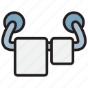 bath, clothes, hanger, towel icon