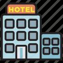 hotel, building, travel, service, restaurant