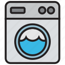 clothes, clothing, laundry, machine, washing icon