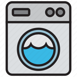 clothes, clothing, laundry, machine, washing icon