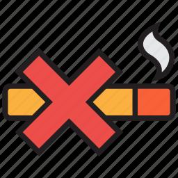 cigarette, forbidden, no, prohibited, sign, smoking icon