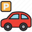parking, car, garage, sign