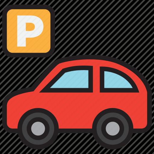 car, garage, parking, sign icon