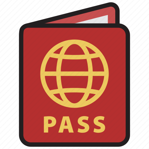 id, pass, passport, travel, visa icon