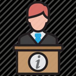 desk, help, hotel, reception, service icon