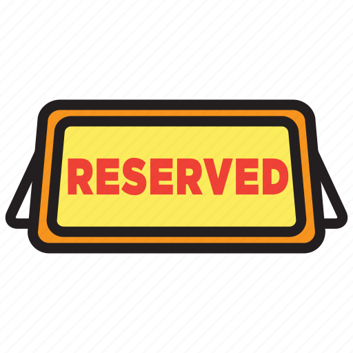 date, dinner, meal, reserve, reserved, table icon