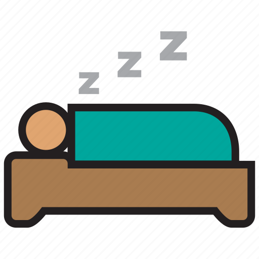 bed, bedroom, furniture, hotel, sleep, snore icon