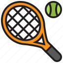 tennis, racket, smash, game, ball, sports