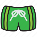 beach, man, summer, swim, swimsuit, trunks icon