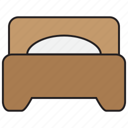 bed, bedroom, furniture, hotel, pillow, room, sleep icon