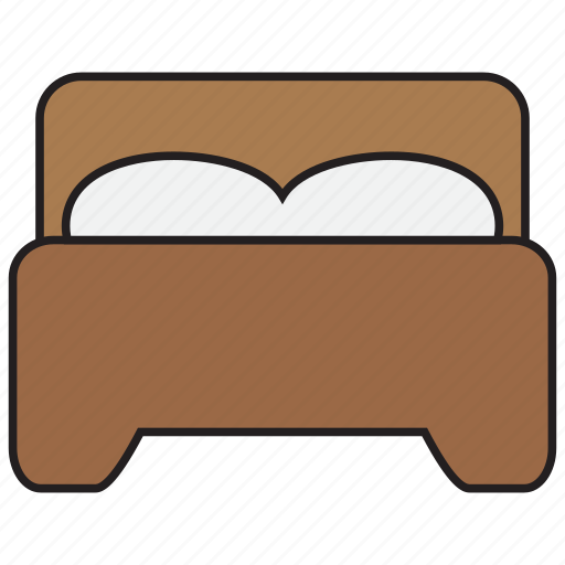 bed, bedroom, furniture, hotel, interior, pillow, sleep icon