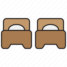 bed, bedroom, furniture, hotel, pillow, sleep icon
