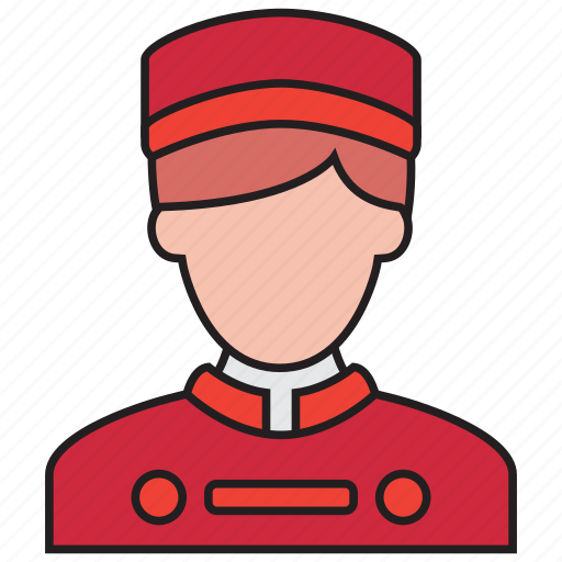 avatar, bellboy, hotel, male, man, waiter icon
