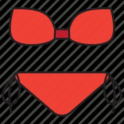 bikini, bra, swimsuit, swimwear, undergarment, underwear icon