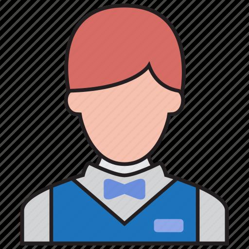 avatar, busboy, hotel, order, service, serving, waiter icon