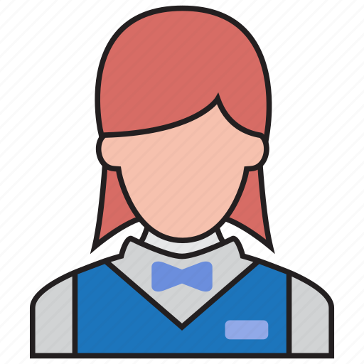 avatar, busgirl, cleaner, girl, hotel, waitress, woman icon