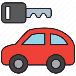 auto, automobile, car, key, rental, transport, vehicle icon