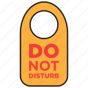 allowed, disturb, do not disturb, door, forbid, forbidden, sign icon