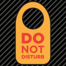 allowed, disturb, do not disturb, door, forbid, forbidden, sign icon