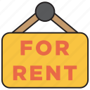 rent, home, plate, sign, for rent, house, real estate