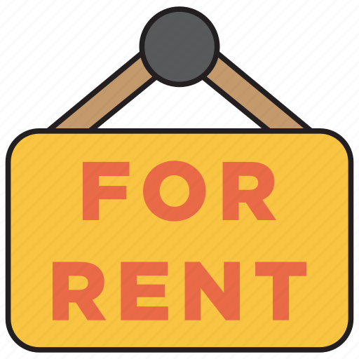 for rent, home, house, plate, real estate, rent, sign icon