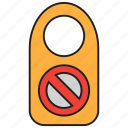 door sign, forbid, forbidden, sign, stop, warning icon