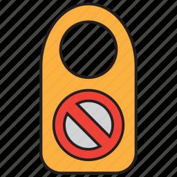 door sign, forbid, forbidden, sign, stop, warning icon