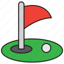 ball, flag, game, golf, golfer, grass, sport icon
