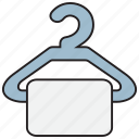 bath, bathroom, clothes, hanger, towel icon