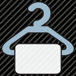 bath, bathroom, clothes, hanger, towel icon