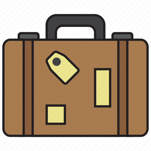 bag, baggage, briefcase, business, luggage, suitcase, travel icon