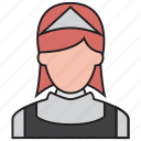 avatar, cleaner, cleaning, female, maid, service, waitress icon