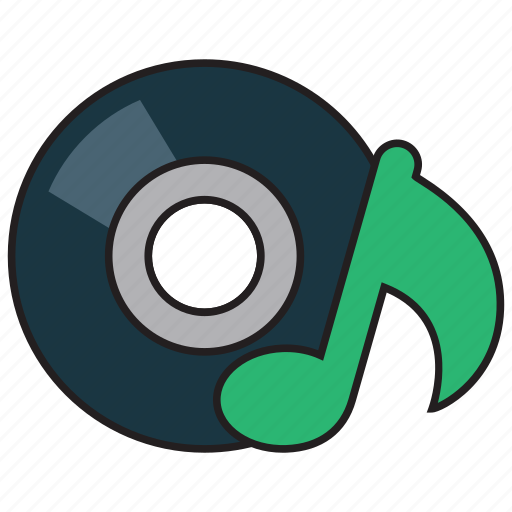 audio, disc, music, note, play, player, sound icon
